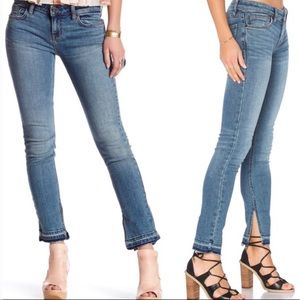Free People Frayed Slitted Skinny Jeans 25